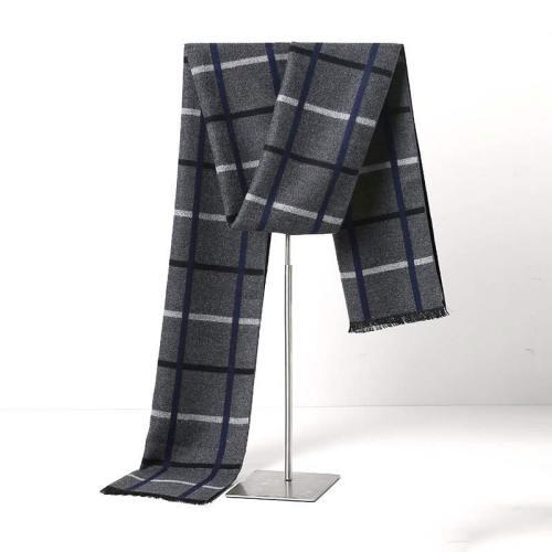 Men's Scarf Thicken Cozy Warm Scarf Solid Color Accessory Casual Wipe clean Scarves Winter Scarves Contrast Color