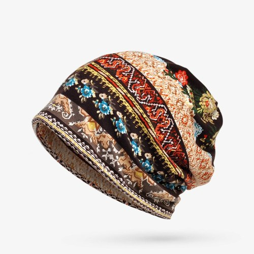 Women's Beanie Ladylike Comfy Floral Hat Spring/Autumn Gradient Color Hand wash Drape Casual Accessories Skullies & Beanies