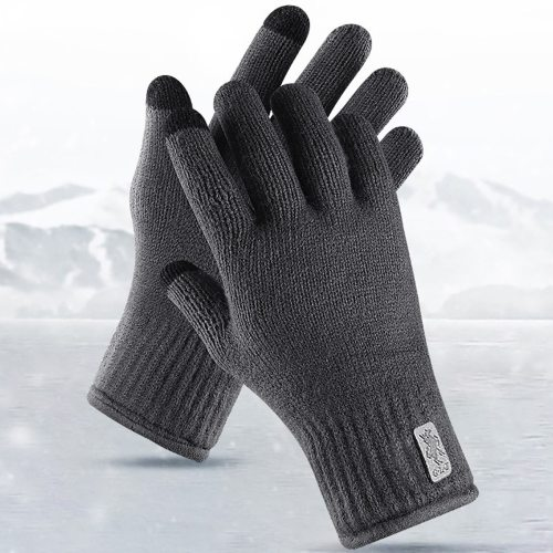 Men's Gloves Thicken Comfy Touch Screen Warm Hand wash Accessory Contrast Color Outdoor Geometric Punk