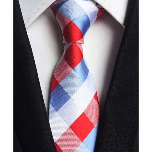 One Piece Men's Tie Fashion All Match Plaid Stripe Pattern Decor Simple Top Fashion size:148*8*35cm Polka Dot Contrast Color
