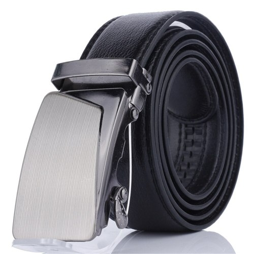 Men's Belt Automatic Buckle Fashion All Match Business Metal Decoration Basic Solid Color Accessory Men's Belts