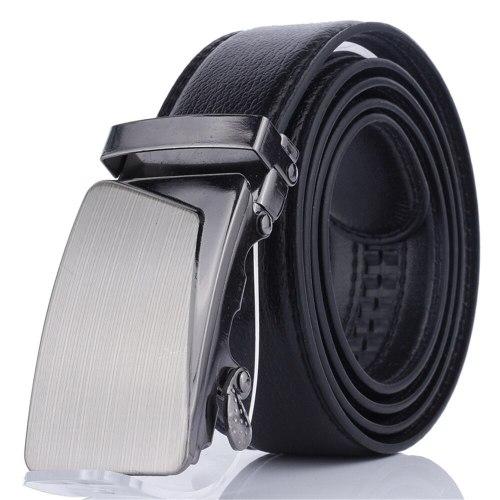 Men's Belt Automatic Buckle Fashion All Match Business Metal Decoration Basic Solid Color Accessory Men's Belts