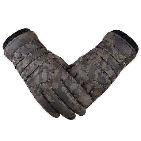 Men's Gloves Thick Touch Screen Velvet Cycling Personality Waterproof Windproof Outdoor Top Fashion Camouflage