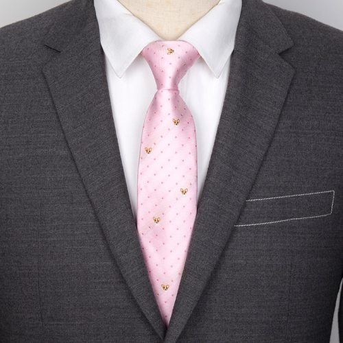 Men's Tie Exquisite Dots Pattern Embroidery Business Accessory Animal Casual
