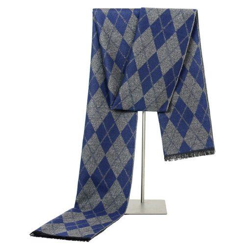 SAN VITALE Men's Scarf Color Block Classic Comfy Warm Casual Geometric Scarves Accessory Tassel Winter Scarves Hand wash