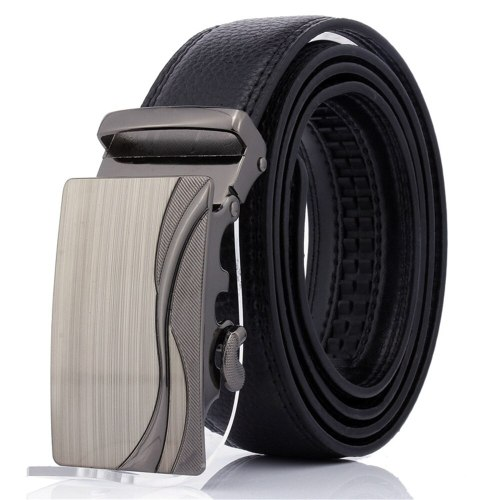 Men's Belt Automatic Buckle Fashion All Match Business Metal Decoration Basic Accessory Solid Color Men's Belts