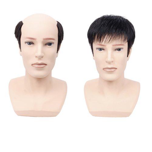 Men's Wig Short Hair Natural Faddish Straight Basic Hand wash Human Hair