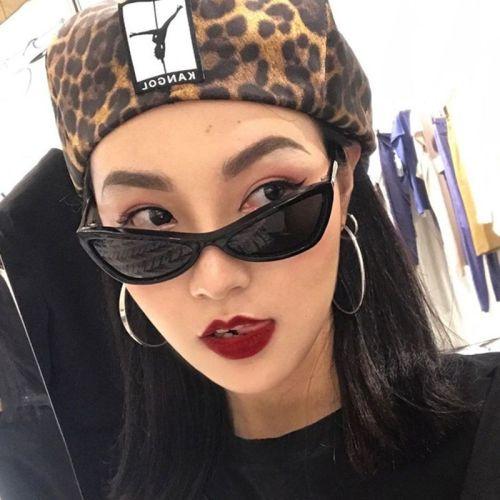 Women's Cat Eye Shape Full Frame Glasses Punk Butterfly Shape Elegant Anti-UVA Accessory Sunglasses zoravia Fashion Metal Decoration Wipe clean Solid