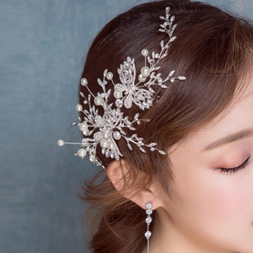 Women's Headband Butterfly Exquisite Headband Bride Hair Fashion Hair Accessories