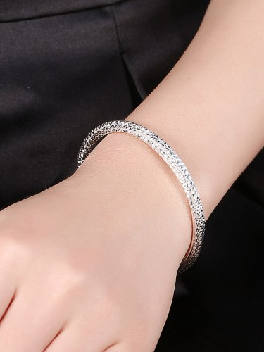 Lucky Doll Women's Bracelet Simple Spiral Design Opeing Catenary/Necklace Fashion