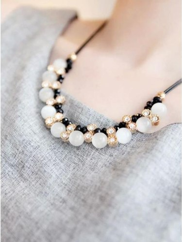 Women's Fashion Necklace Cymophanes Rhinestones Design Elegant Necklace Accessory Fine
