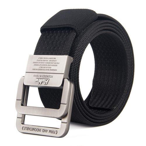 Men's Canvas Belt Durable Casual Men's Belts Accessory Contrast Color Basic Solid Color
