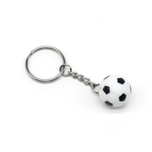 Men's Key Ring Creative Sports Ball Pendant Key Pastoral Accessories length:90*28*22mmmaterial: alloy+pvc Solid Color Metal Decoration