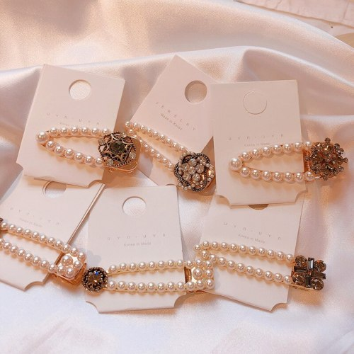 1 Pc Women's Hair Clip All Match Imitation Pearl Charming Hair Fashion Hair Accessories Wipe clean