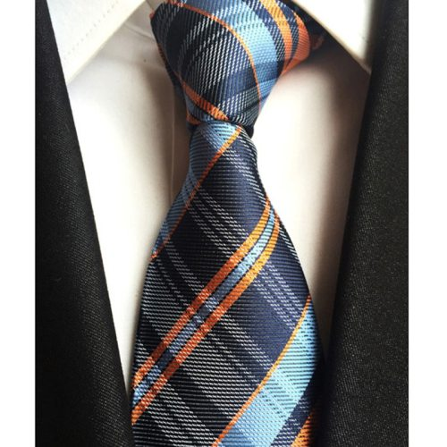 One Piece Men's Tie Fashion All Match Plaid Stripe Pattern Decor Simple size:148*8*35cm Striped OL Contrast Color