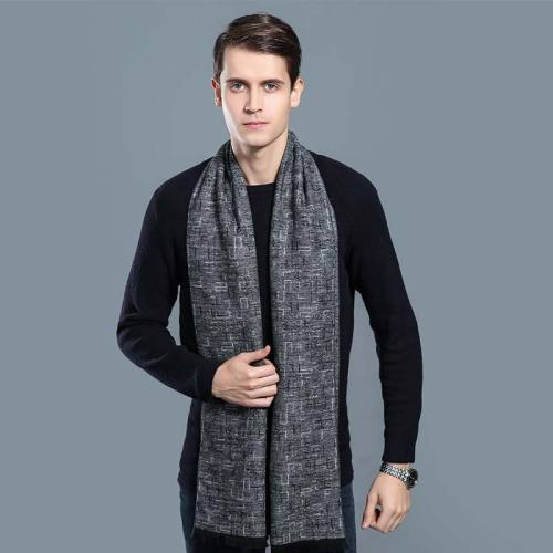 Men's Scarf Color Block Comfy Warm Windproof Outdoor Print Wipe clean Accessory Scarves Winter Scarves Contrast Color
