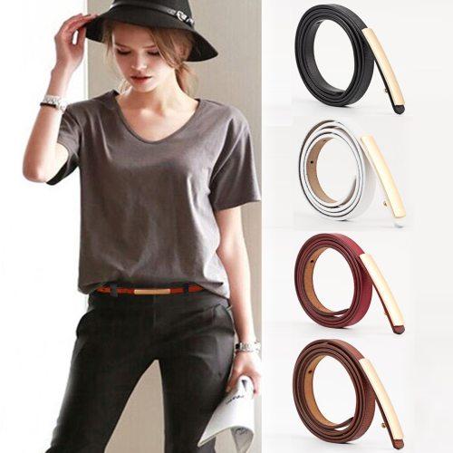 Women's Jeans Belt Solid Color Stylish Jeans Fashion Buckle Geometric Accessories Women's Belts One-loop