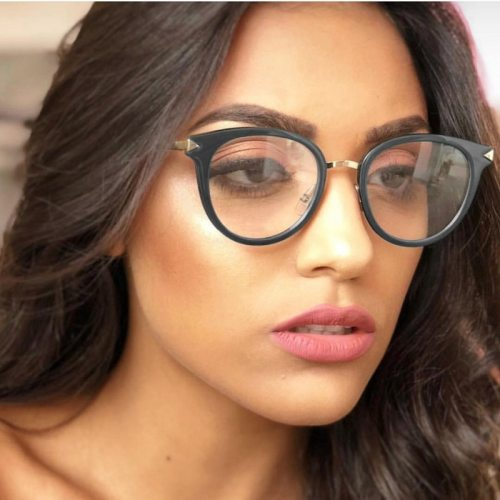 Women's Eyeglasses Leisure All Match Accessories Sunglasses Round Shape Fashion Contrast Color Celebrity Solid Color Oversized