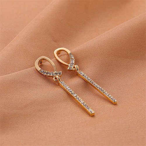 Women's Drop Earrings Ladylike Zircon Delicate Basic Metal Decoration Alloy Inlaid with Artificial Gem/Semiprecious Stone Allergy Free Accessory