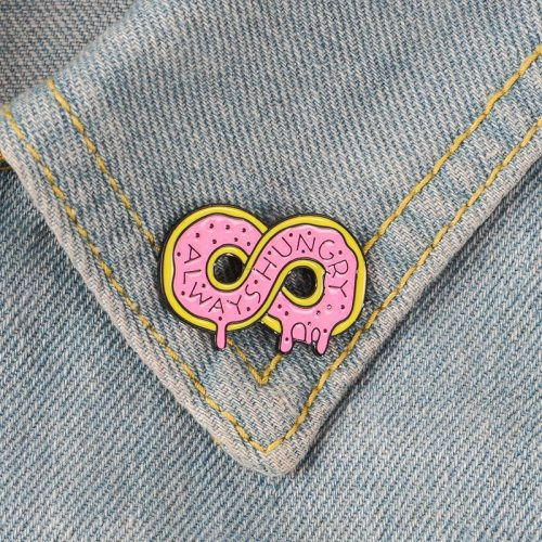 3 Pieces Women's Pins Creative Donut Enamel Celebrity Carving Cartoon