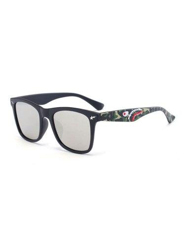 Black Frame Silvery Lenses Men's Fashion Sunglasses Accessory Cat Eye Wipe clean