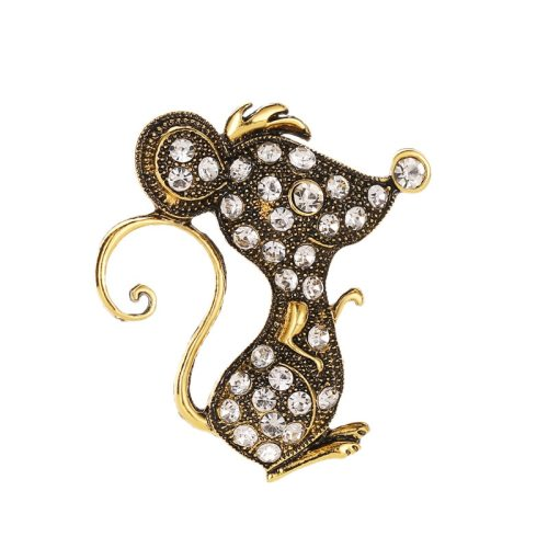 3 Pieces Women's Brooches Animal Design Rhinestone Metal Decoration Sexy Geometric