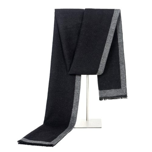 SAN VITALE Men's Scarf Brief Style Color Block All Match Comfy Warm Winter Scarves Hand wash Accessory Tassel Geometric Casual