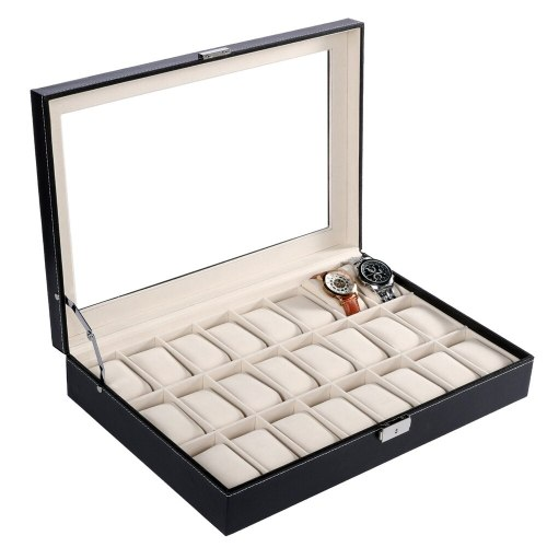 24 Grid High Quality Jewelry Display Storage Wristwatch Others Gift Box 1 x KeyNote: Due to the difference between different monitors Fashion