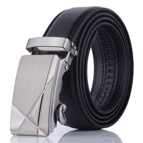 Men's Belt Automatic Buckle Fashion All Match Business Rivet Solid Color Men's Belts Basic Accessory