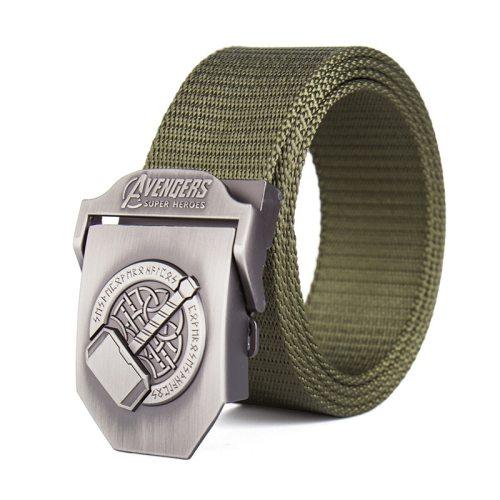 Men's Canvas Belt Durable Simple Design Accessory Basic Men's Belts Solid Color Contrast Color