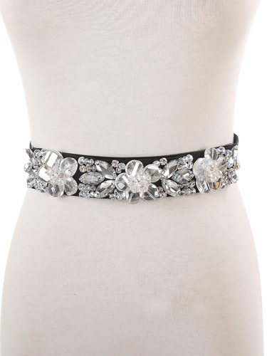 Women's Corset Chic Stylish Decor All Match Accessories Women's Belts One-loop Rhinestone Hand wash Fashion Floral
