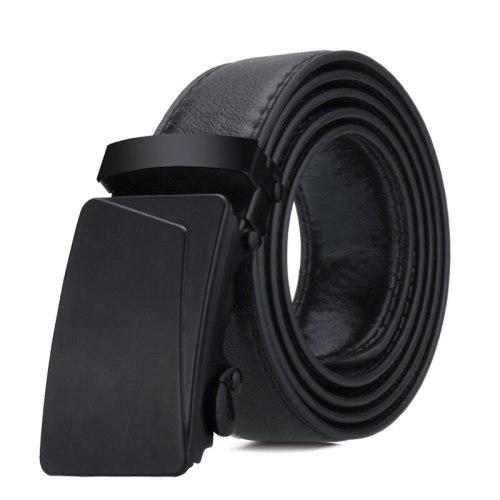 Men's Belt Automatic Buckle All Match Business Solid Color Accessory Metal Decoration Men's Belts Fashion