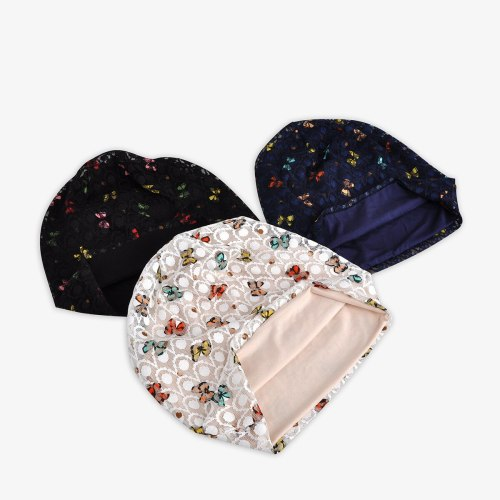 Women's Beanie Stylish Breathable Butterfly Ladylike Comfy Hat Floral Flowers Hand wash Skullies & Beanies Casual spring&summer Accessories