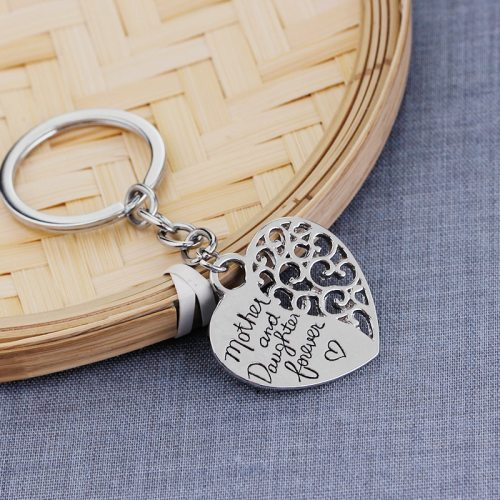 Men's Key Ring Letter Pattern Hollow Out Loving Heart Shape Geometric Metal Decoration Accessories Casual