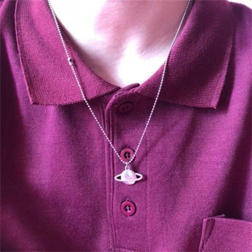 Women's Fashion Necklace Creative Planet Pendant Geometric Accessories Fine Sweet Hollow out