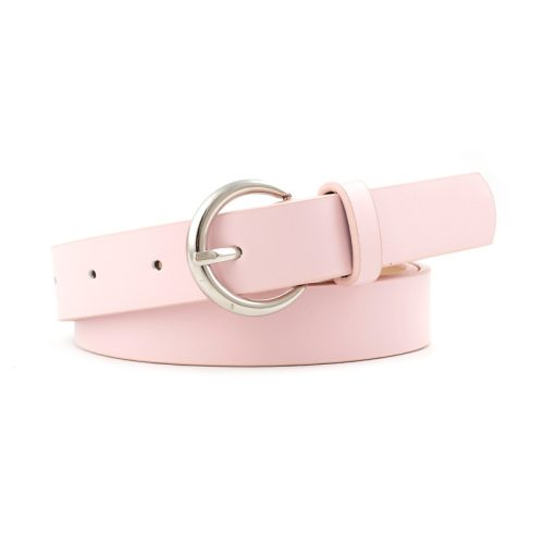 1 Piece Women's Jeans Belt Simple Candy Color Casual Normal2-4cm Basic Women's Belts Punk Accessory material: pu Geometric Hollow out One-loop Others
