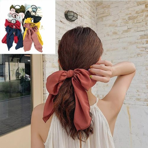 1 Piece Women's Hair Elastic knot Fresh Elegant Hair Fine Hair Accessories Bow Solid Color Sweet