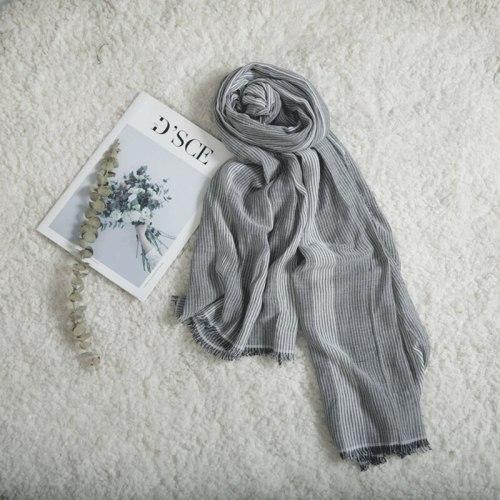 SAN VITALE Men's Scarf Striped Soft Comfy Design Scarves Tassel Accessory Solid Color Casual Winter Scarves Hand wash