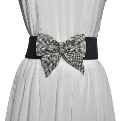 Women's Corset Sweet Bow Design Decor Stylish cinch belt Hand wash Fashion Rhinestone One-loop Accessories
