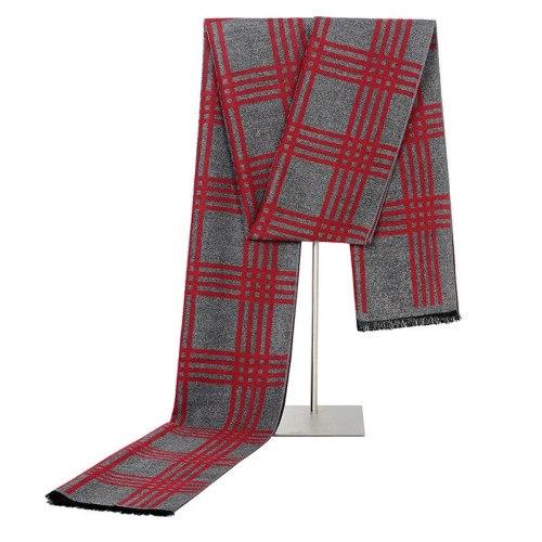 Men's Scarf Fashion Silk-Like Plaid Pattern Warm Soft size: 180*30cm Accessory Formal Scarves Winter Scarves Striped Tassel Hand wash