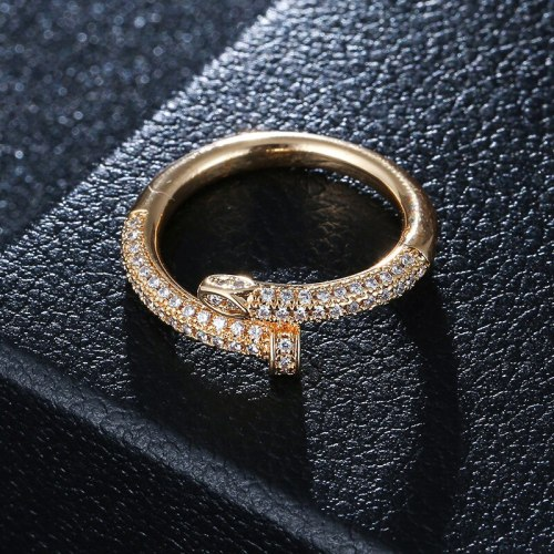 Women's Ring Ladylike Zircon All Match Rhinestone Fashion Geometric Sexy Accessories