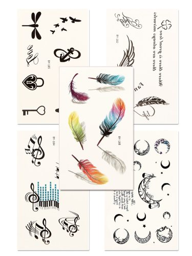 5 Pcs Women's Tattoo Sticker Set Multielement Environmental Fashion Waterproof Accessories