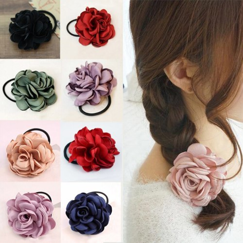 Women's 6 Pieces Hair Elastics Simple Solid Color Flower Elegant Floral Celebrity Hair Accessories Bow Fashion
