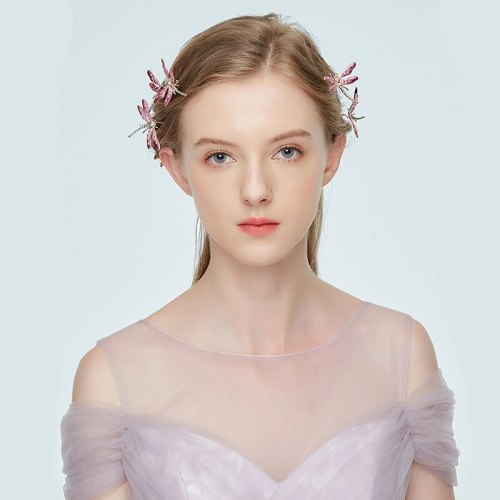 1Pc Women's Hair Clip Dragonfly Pattern U-shape Creative Exquisite Hair Hair Accessories Fine