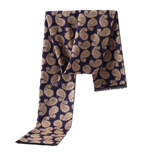 SAN VITALE Men's Scarf Decor Printed Comfy Warm Scarves Accessory Casual Striped Tassel Hand wash Winter Scarves
