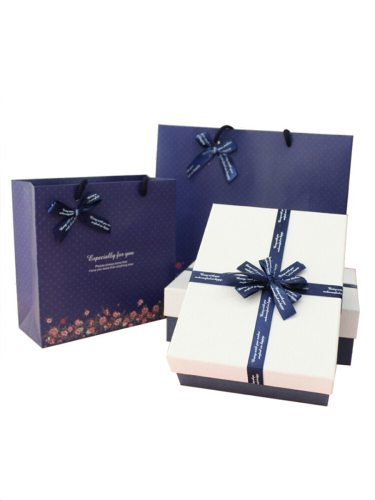 2Pcs & Bag Set Exquisite Trendy Bow Decoration Jewelry 0-3Pcs bag:20*20*8cmbox:18*14*5cm Gift Box