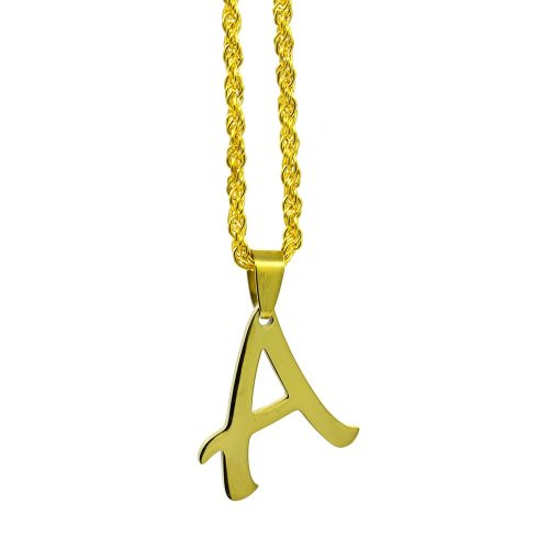 Women's Fashion Necklace Letter A Design Pendant Solid Color Necklace Catenary/Necklace Basic
