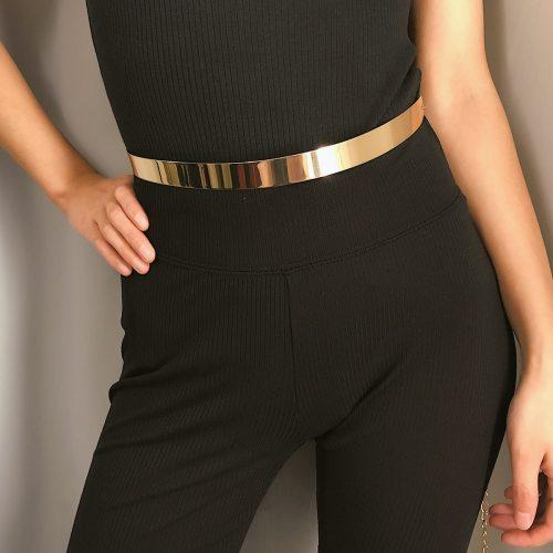 Women's Waist Chain Solid Color Elegant Belt One-loop chains Accessories Basic Metal Decoration Vintage