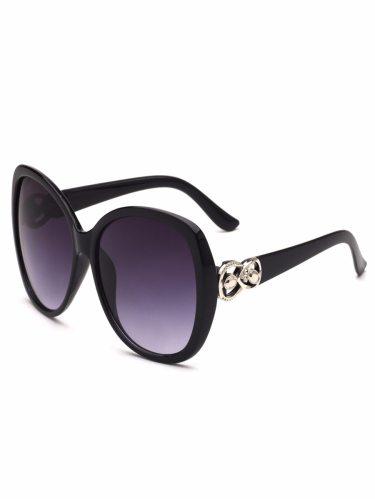 Women's Casual UV Block Full Rim Glasses Fashion Accessories Sweet Rivet Gradient Color Wipe clean Sunglasses
