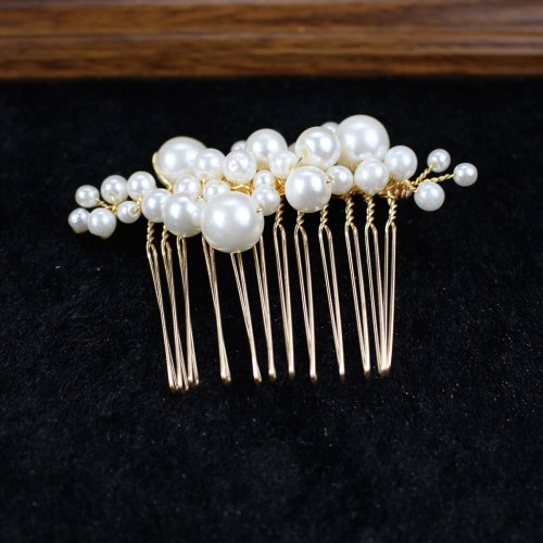 5Pcs Women's Hairpins & Hair Combs Wedding Party Elegant Stylish Hair 1 big hair comb + 2pcs small hair combs + 2pcs hairpins Hair Accessories Wipe
